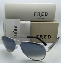 New FRED LUNETTES Sunglasses HAWAI C6 8427 118 Palladium & Black w/Grey Gradient