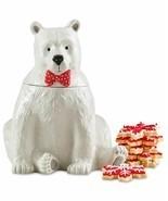 """Martha Stewart Collection Polar Bear Cookie Jar 11"""" x 9"""" Dolomite New In... - $39.59"""