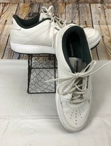 VTG Reebok Sneakers Shoes White Green Trim Leather Upper Men's Size 13 - $31.97