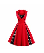 Women Retro 1950s 60s Dress Polka Dots Pinup Rockabilly Sexy Party Dresses - $45.95