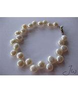 Freshwater Pearl 14 KT White Gold Plated bracelet - $15.99