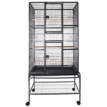 Large Bird Cage Parrot w/Stand 2 Doors Pet Supply Cockatiel Conure Chinc... - $119.99