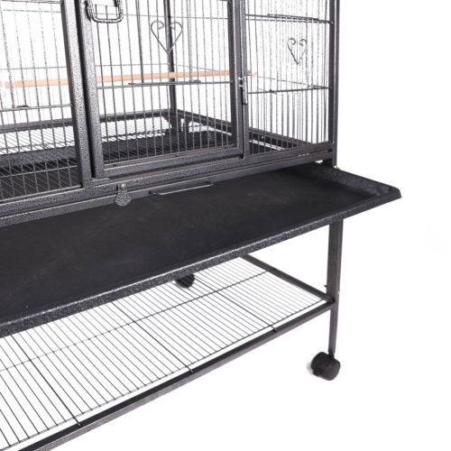 Large Bird Cage Parrot w/Stand 2 Doors Pet Supply Cockatiel Conure Chinchilla 69