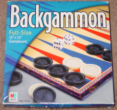 BACKGAMMON GAME 2001  HASBRO MILTON BRADLEY NIB UNOPENED PARTS COMPLETE ... - $3.00