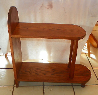 Primary image for Solid Oak Mid Century 2 Tier End Table / Side Table