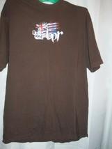 Men Size X-Large XL Quiksilver British Flag Brown T Shirt - $16.82