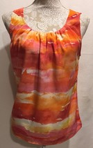 Chico's Women Career Work Coral Sleeveless Tunic Blouse Tank Top  Size 1 - $28.79