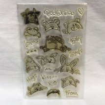 Stampendous Peek A Boo Baby Clear Stamp Set SSC070 Farm Animals Frog Cow... - $9.89