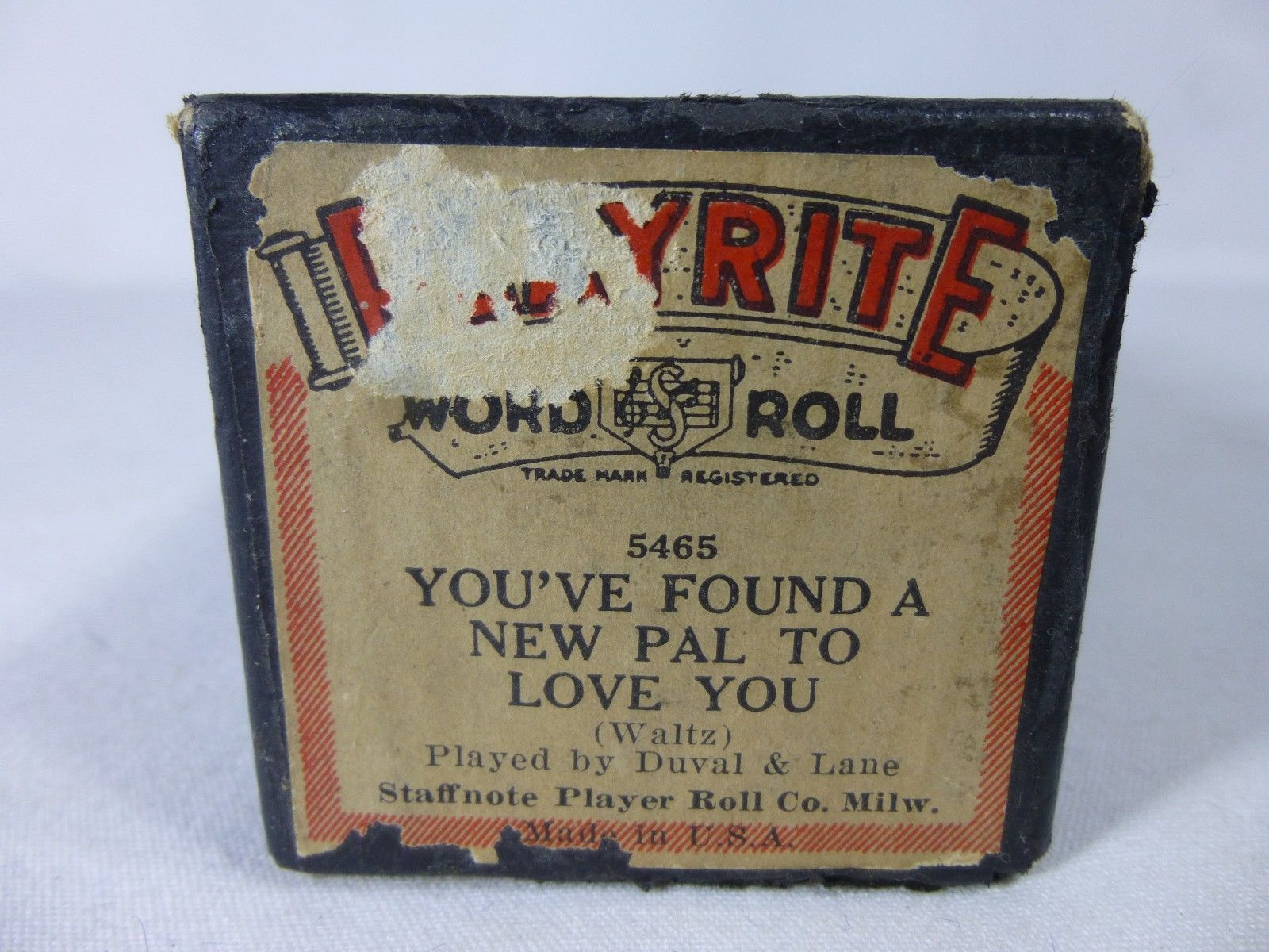 Primary image for You've Found A New Pal To Love You played by Duval Playrite 5465 Piano Roll