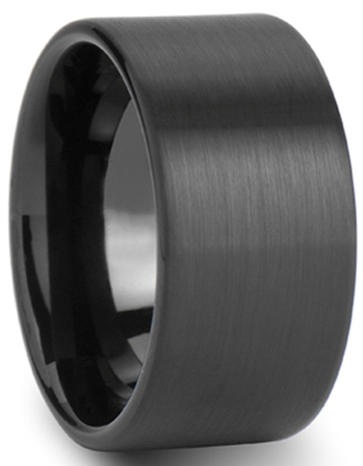 Primary image for 14mm Black Tungsten Ring Wedding Band Comfort Fit Engagement; 5-15 & Half