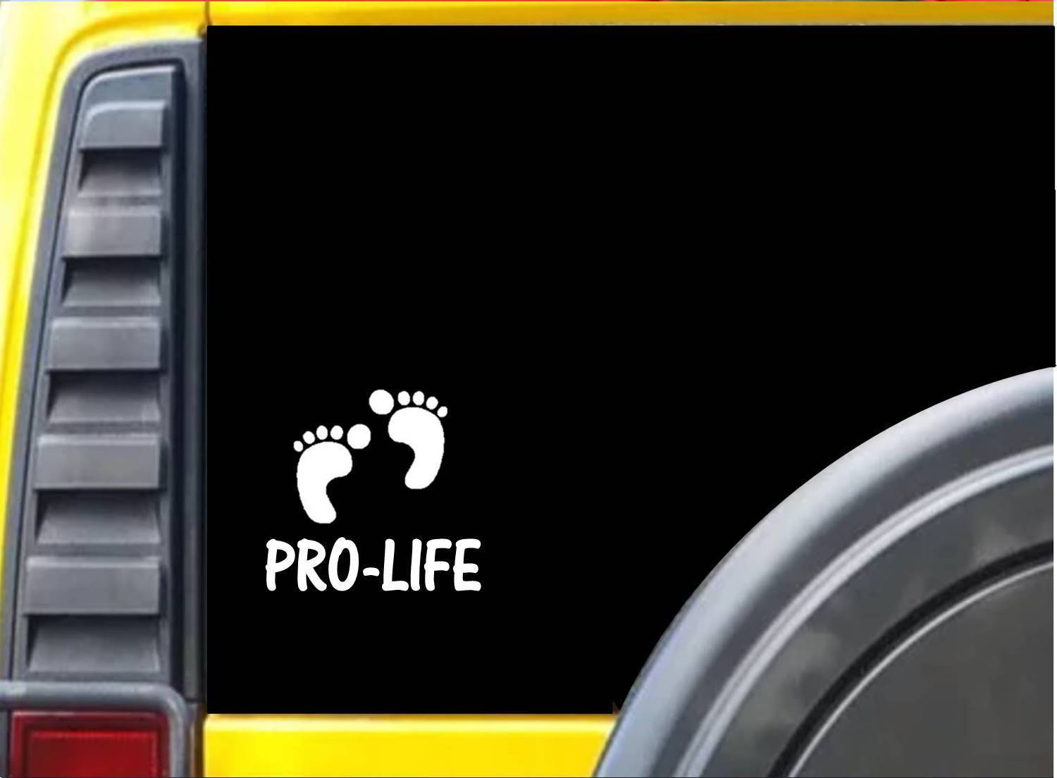 Primary image for Pro Life Baby Feet K933 6 inch Sticker decal
