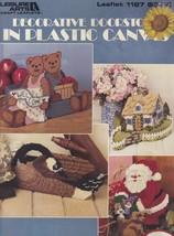 Decorative Doorstops, Plastic Canvas Pattern Booklet LA 1187 Goose Santa & More - $2.95