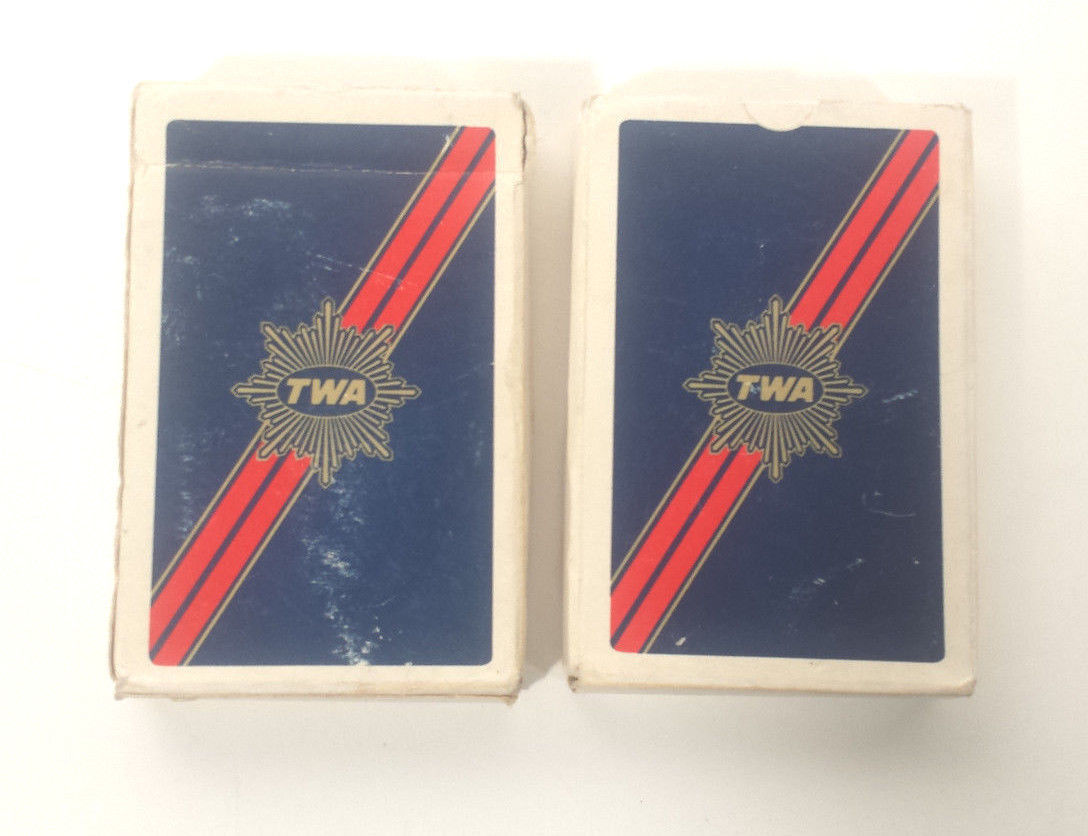 Primary image for TWA COLLECTOR ITEMS -PLAYING CARDS - DRINK STIRRER - WINGS