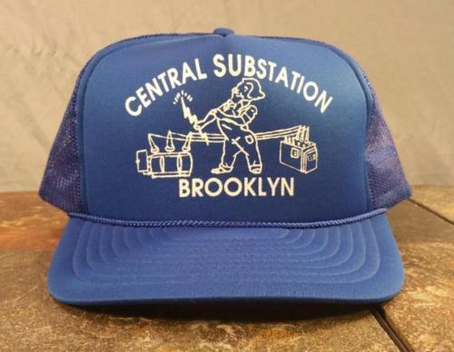 Central Substation Brooklyn New York NY Blue Trucker Snapback Adjustable Hat Cap