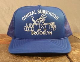 Central Substation Brooklyn New York NY Blue Trucker Snapback Adjustable Hat Cap image 1