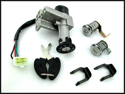 Primary image for Jonway 50QT-21 50CC Scooter moped ignition key lock switch assembly, Baja SC50