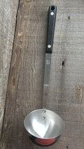 Vintage Ekco Flint Stainless Vanadium Kitchen Soup Ladel w/ Wooden Black... - $19.95