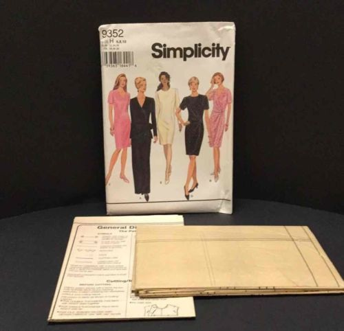 Primary image for Simplicity Sewing Pattern 9352 Misses Darted Dress 2 Lengths Career SizeH 6 8 10