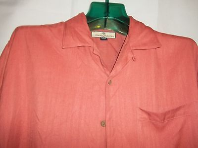 Primary image for Size M / L Tommy Bahama Coral , Coconut Buttons Hawaiian Short Sleeve Shirt