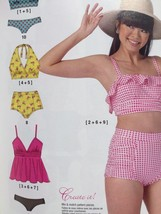 McCalls Sewing Pattern 7168 Misses Ladies Swimsuis Size 6-14 New - $19.62