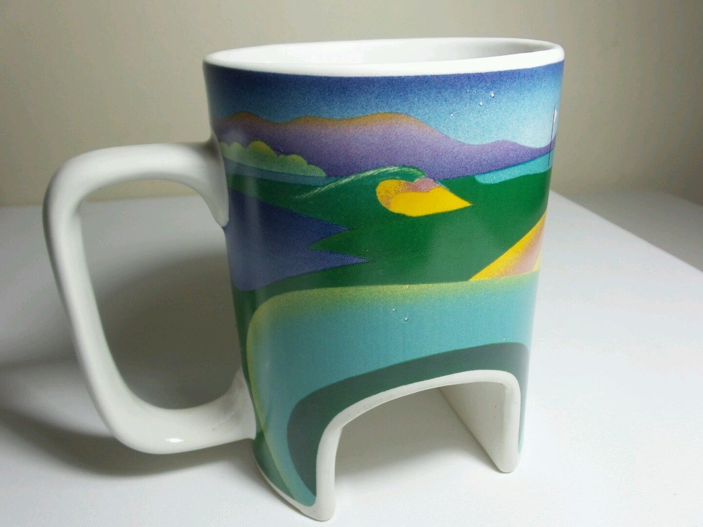 Vintage Golf Practice Putting Hole Mug - 1990 Norrgard Designs