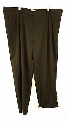 Perry Ellis America Black Dress Pants Pleated Front Size 46 by 30