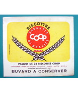 INK BLOTTER French Advertisement:  1955 Biscottes COOP Buvard Dry Biscuits - $4.05