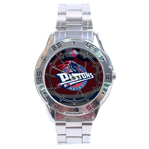 Primary image for Detroit Pistons NBA Stainless Steel Analogue Men's Watch Gift