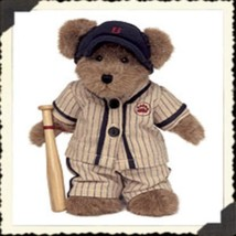 "Boyds Bears ""Sammy Slugger""  8"" Plush Bear- #903308- New- 2003- Retired - $23.99"