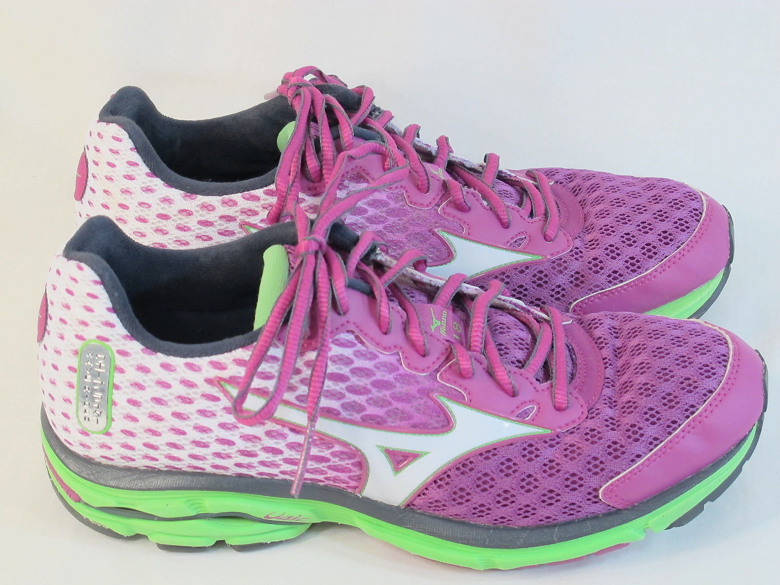 Mizuno Wave Rider 18 Running Shoes Women's Size 9.5 US Excellent Plus  Condition