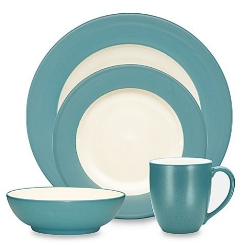 Primary image for Noritake Colorwave Rim 4-Piece Place Setting in Turquoise