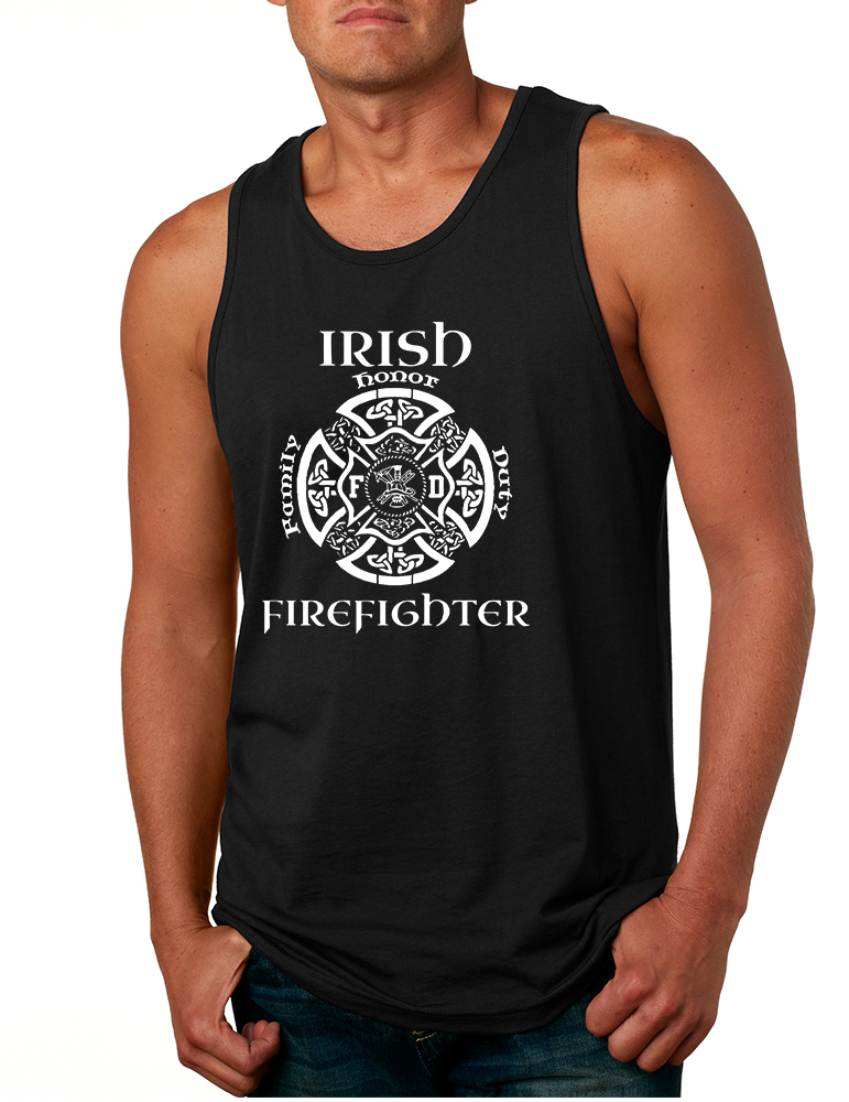 Primary image for Men's Tank Top Irish Firefighter St Patrick's Patry Irish Top