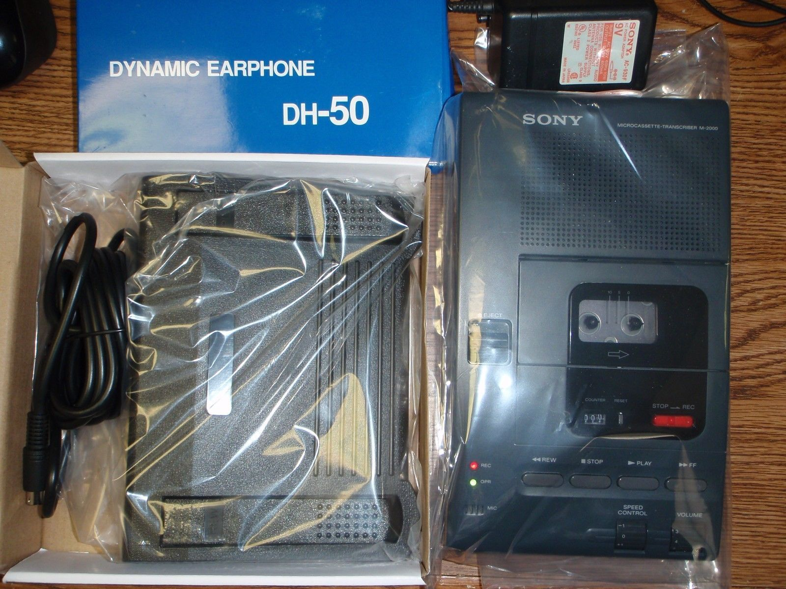 Primary image for Sony M2000 microcassette transcriber with heavy duty foot pedal, AC adapter