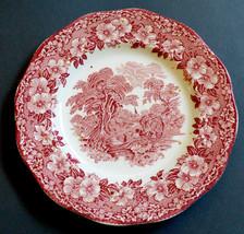 VTG Enoch Wedgwood Tunstall England Woodland China Salad plate hand engr... - $29.70