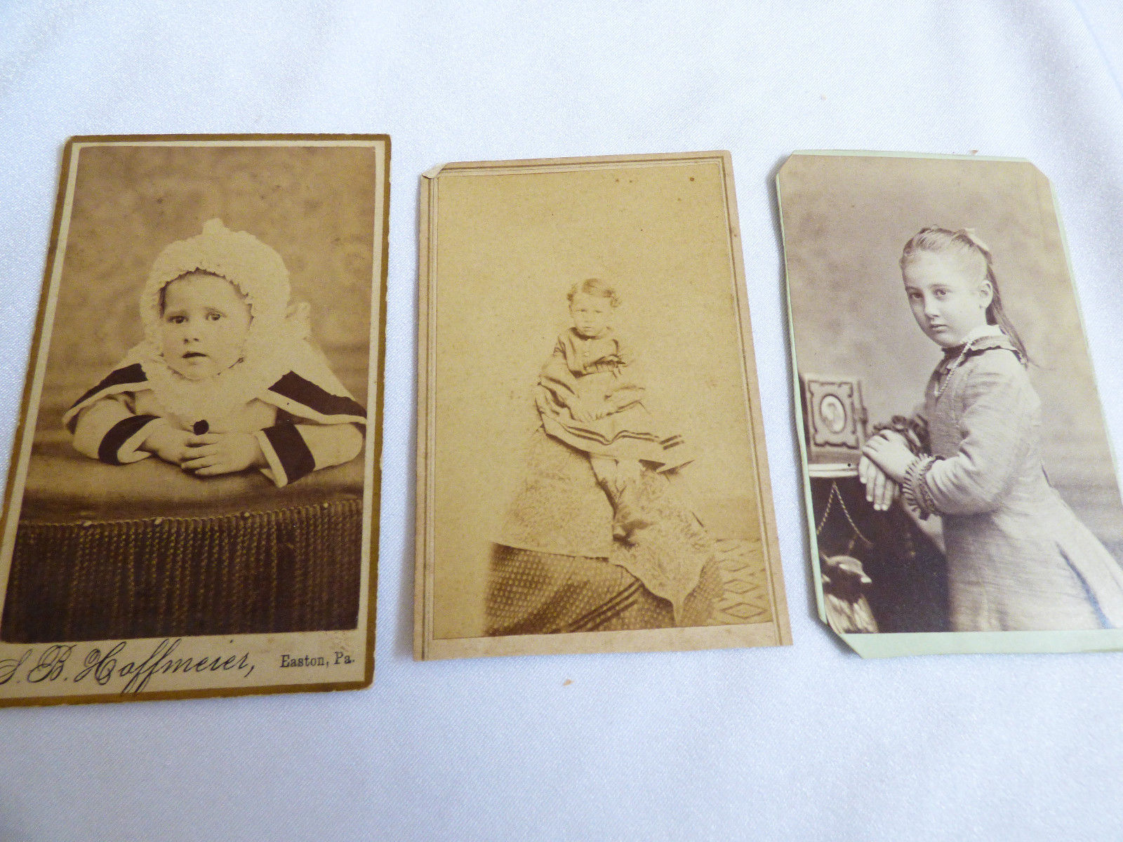 Primary image for lot of 3 Vintage antique Cabinet photo Photograph Kids Children Gilf