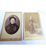 LOT OF 2 VINTAGE ANTIQUE PHOTOGRAPH CABINET PHOTO YOUNG & OLDER WOMEN - $24.75