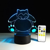 Anime Pets Snorlax Pokemon Colorful visual Touch+Remote Control LED nigh... - €21,05 EUR