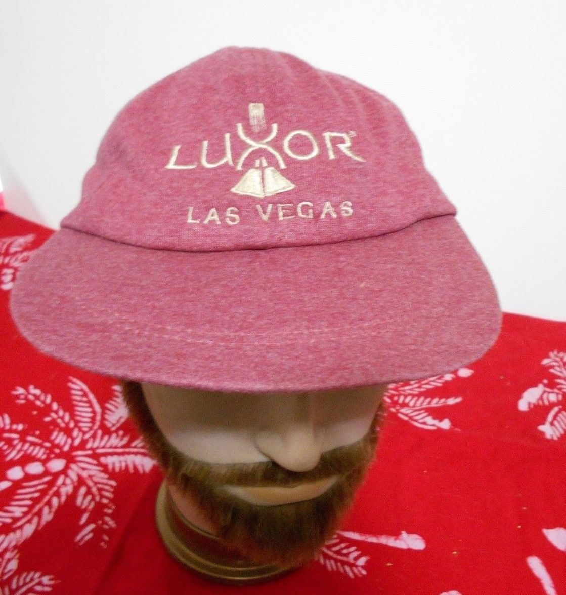 Primary image for Luxor Hotel Las Vegas Pink Embroidered Adjustable Size  Baseball Trucker Hat