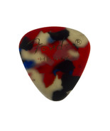 Vintage Fender Heavy Guitar Pick Abstract Red White Black - $15.79
