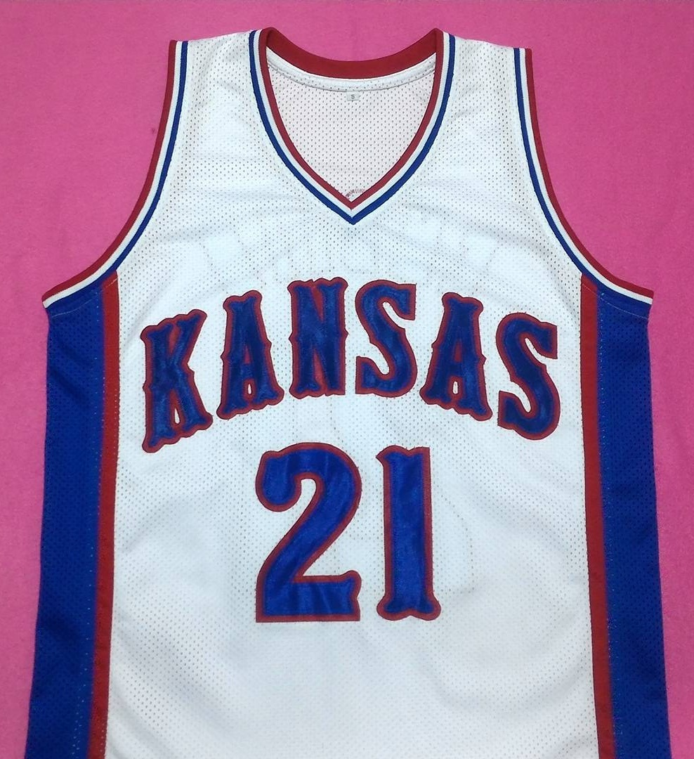 Primary image for JOEL EMBIID Kansas Jayhawks White College Jersey Any Size Gift