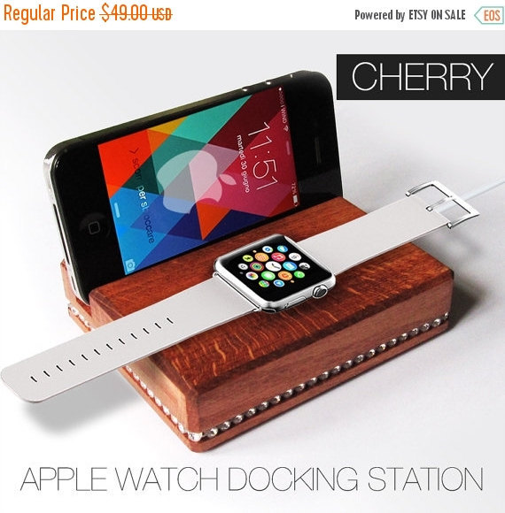 Primary image for Apple watch docking station with real Swarovski,gift for her,iphone docking stat