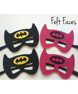 Batman & Batgirl Party Masks, Batman & Batgirl Party Favors - $10.00