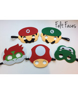 Mario Brothers Party Masks, Super Mario Brothers Party Favors, Mario Bro... - $12.50