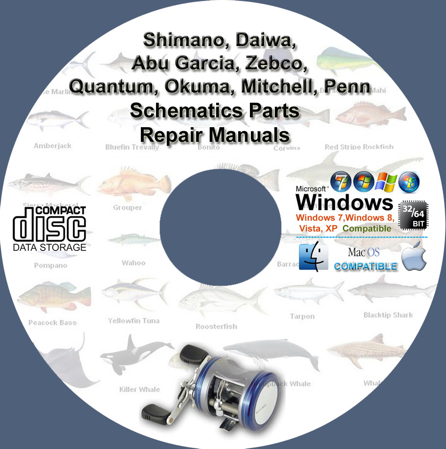 Fishing reel schematics parts manuals repair and 50 similar items pooptronica Images