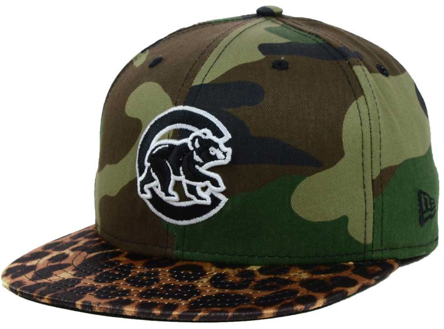 cf64dab5172 57. 57. Previous. Chicago Cubs Camo Pop Leopard Visor New Era 59Fifty  Fitted Hat Cap BEAR LOGO New · Chicago Cubs Camo Pop Leopard ...