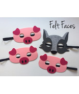 Three Little Pigs and Big Bad Wolf Masks - $10.00
