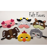 Farm Animal Party Masks, Farm Animal Party Favors, Farm Animal Party Sup... - $15.00