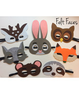 Woodlands Animal Party Masks, Woodlands Party Favors, Woodlands Party De... - $17.50