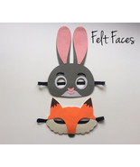 Zootopia Party Masks, Zootopia Party Favors, Zootopia Party Supplies - $5.00