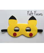 Pikachu Party Mask, Pokemon Party Decorations, Pokemon Party Ideas - $2.50